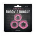Ringi na penisa Dandy's Bangle różowe - 3szt