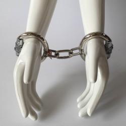 Kajdanki na ręce z łańcuchem zamykane na zamek szyfrowy