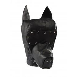 Maska psa z odpinaną opaską na oczy