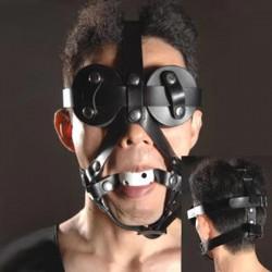 Knebel z uprzężą i maską na oczy BDSM