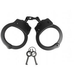 Stalowe kajdanki policyjne łańcuszkowe - czarne