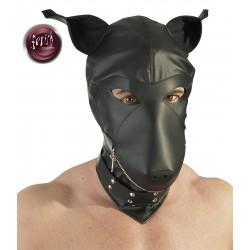 Maska psa BDSM -skórzana