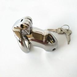 Męski stalowy pas cnoty z zapięciem na klucz rozmiar L