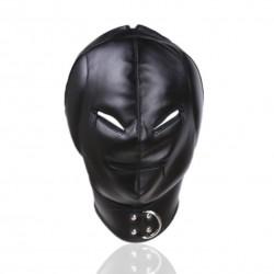 Zabudowana wygłuszająca maska z otworami na oczy i usta