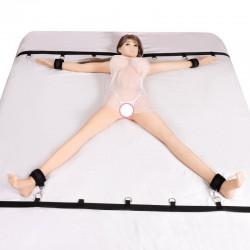 Zestaw pasów krępujących mocowany do łóżka