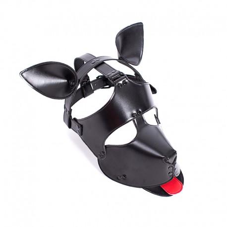 Maska psa z uszami i językiem
