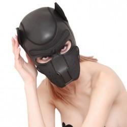Neoprenowa czarna maska psa