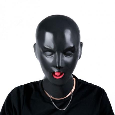 Maska lateksowa z silikonowymi ustami
