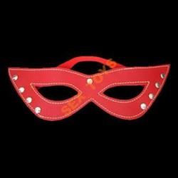 Czerwona standardowa maska na oczy z otworami