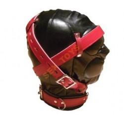 Maska sensory deprivation czarno - czerwona, tłumiąca zmysły