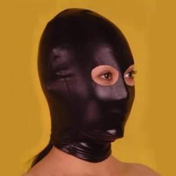 Czarna maska BDSM z otworami na oczy