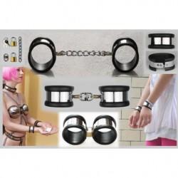 Damskie kajdanki na ręce z obiciem gumowym